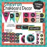 Chevron & Chalkboard Classroom Decor Set