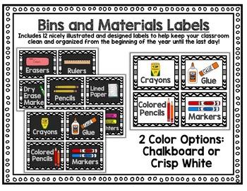Classroom Decor EDITABLE - Chalkboard Classroom Decor