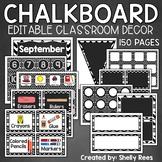 Classroom Decor Black and White | EDITABLE Chalkboard Classroom Decor
