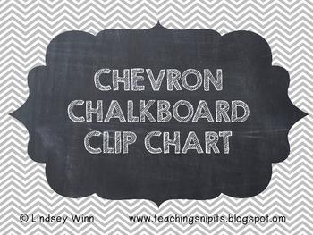 Chevron & Chalkboard Clip Chart