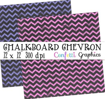 Chevron Chalkboard Colorful Digital Paper Chalk Board Background