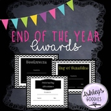 Chevron Chalkboard End of the Year Awards!