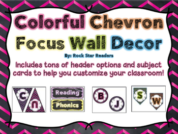 Chevron Chalkboard Focus Wall Decor {TONS of options!}