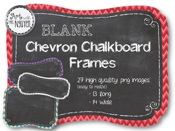 Chevron Chalkboard Frame Clip Art