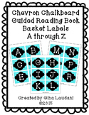 Chevron Chalkboard Guided Reading Book Basket Labels