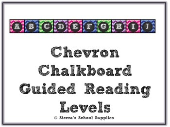 Chevron Chalkboard Guided Reading Levels