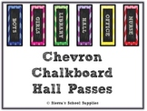 Chevron Chalkboard Hall Passes