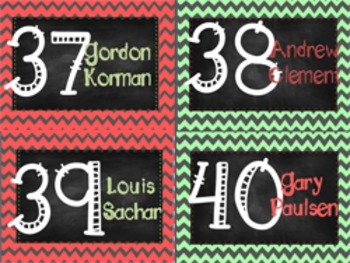 Chevron Chalkboard Library Labels- includes Editable labels!!