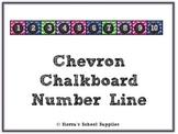 Chevron Chalkboard Number Line