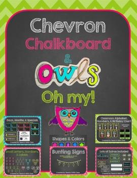 Chevron, Chalkboard, & Owls...Oh my! {decor}