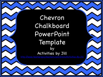 Chevron chalkboard powerpoint template by activities by jill tpt toneelgroepblik Choice Image