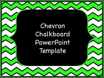 Chevron Chalkboard PowerPoint Template