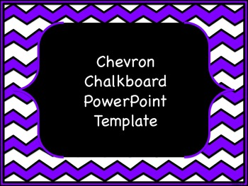 Chevron Chalkboard PowerPoint Template