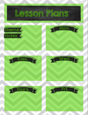 Chevron Chalkboard Preschool Lesson Plan Sheets