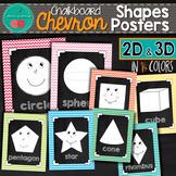 Chevron Chalkboard Shapes Posters