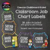 Chevron Chalkboard Style Classroom Job Chart