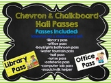 Chevron & Chalkboard Theme Hall Passes Back to School