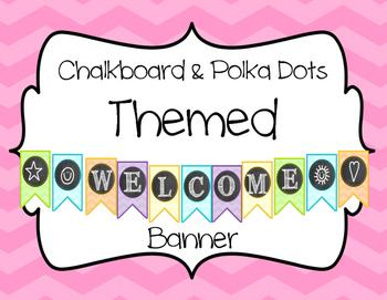 Chevron & Chalkboard Theme {Welcome Banner}