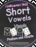 Chevron & Chalkboard *Vowel Visuals (SHORT VOWELS) Posters & Charts*