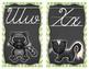 Chevron Chalkboard Woodland Animal Cursive Alphabet