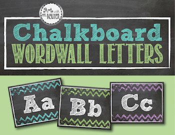 Chevron Chalkboard Wordwall Letters