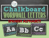 Chevron Chalkboard Word Wall Letters: Spanish Alphabet