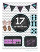 Chevron Chalkboard number posters
