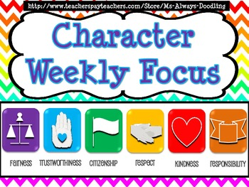 Chevron Character Education Posters