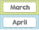 Chevron Chic 5 Colors Desk tags (with graphics) Month and