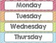 Chevron Chic- 5 Desk tags (pencil and owl graphics) Month and Days of the Week