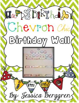 Chevron Chic Birthday Wall {white background}