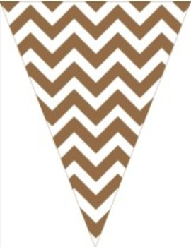 Classroom Decor and Organization Set Chevron Chic-Chocolate