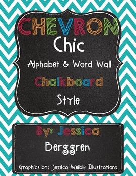 Chevron Chic Classroom Alphabet & Word Wall {Chalkboard Style}