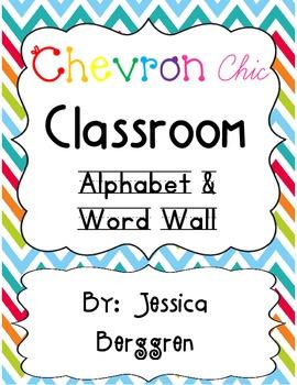 Chevron Chic Classroom Alphabet & Word Wall {white background}