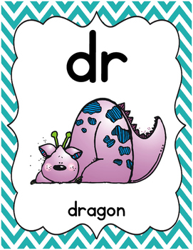 Chevron Chic Classroom Blends and Digraphs {Primary Print}