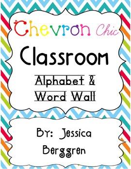 Chevron Chic Classroom Decor Bundle {white background}