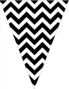 Classroom Decor and Organization Set Chevron Chic-Black