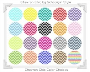 Classroom Decor and Organization Set Chevron Chic Coral