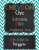 Chevron Chic Editable Chalkboard Labels