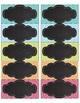Chevron Chic Editable Chalkboard Labels