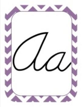 Classroom Decor and Organization Set Chevron Chic Lavender