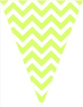 Classroom Decor and Organization Set Chevron Chic Lime Green