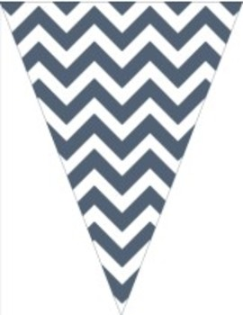 Classroom Decor and Organization Set Chevron Chic Navy Blue