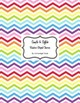 Classroom Decor and Organization Set Chevron Chic-Rainbow Brite Stripe
