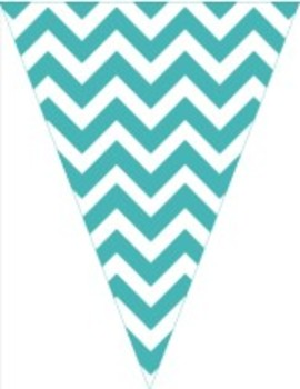 Classroom Decor and Organization Set Chevron Chic-Teal