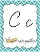Chevron Chic:Lime & Turquoise--Alphabet & Word Wall {Cursi