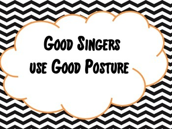 Chevron Choir Posture Posters