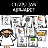 Christian Alphabet Wall Cards { perfect for the christian classroom }