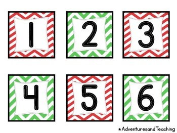 Chevron Christmas Calendar Pack