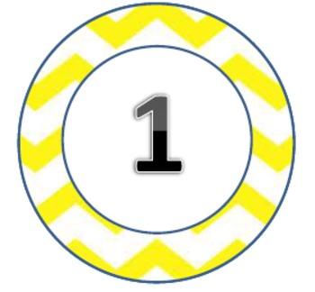 Chevron Themed Circles Pack3 1-31